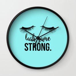 Lash Game Strong Wall Clock
