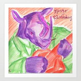 Django Rhinhardceros Art Print