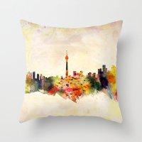 toronto Throw Pillows featuring  Toronto  by mark ashkenazi