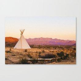Tipi / Texas Canvas Print