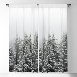 Winter Forest Fir Tree Snow III - Nature Photography Blackout Curtain