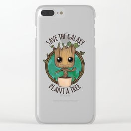 save the galaxy Clear iPhone Case