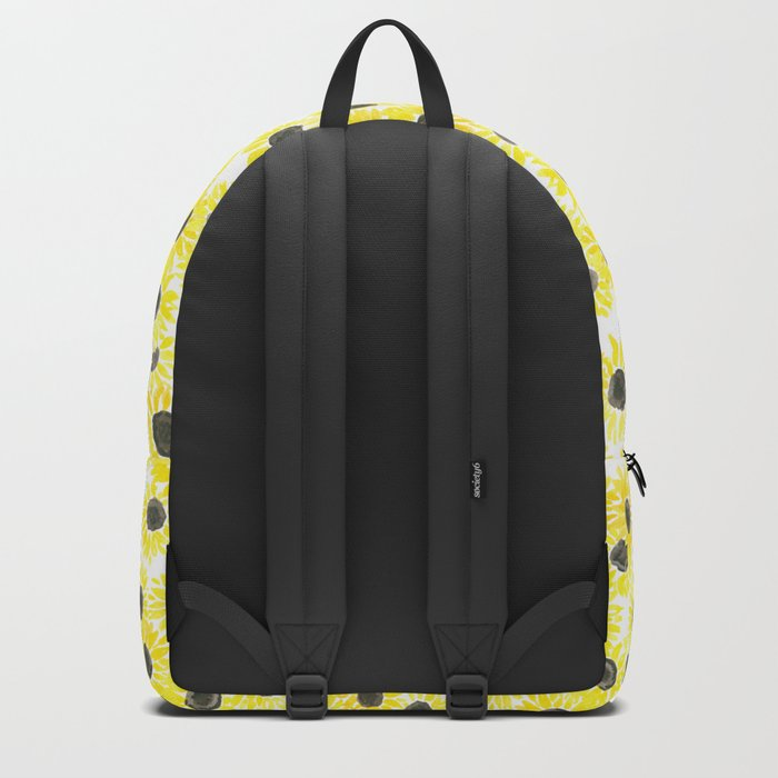 Sunflowers watercolor pattern Backpack
