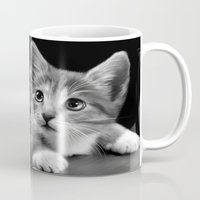 kitten Mugs featuring Kitten by Julie Hoddinott