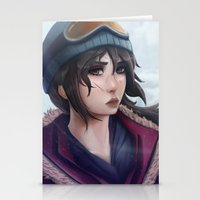 tomb raider Stationery Cards featuring Rise of the Tomb Raider by Massimo Magnago