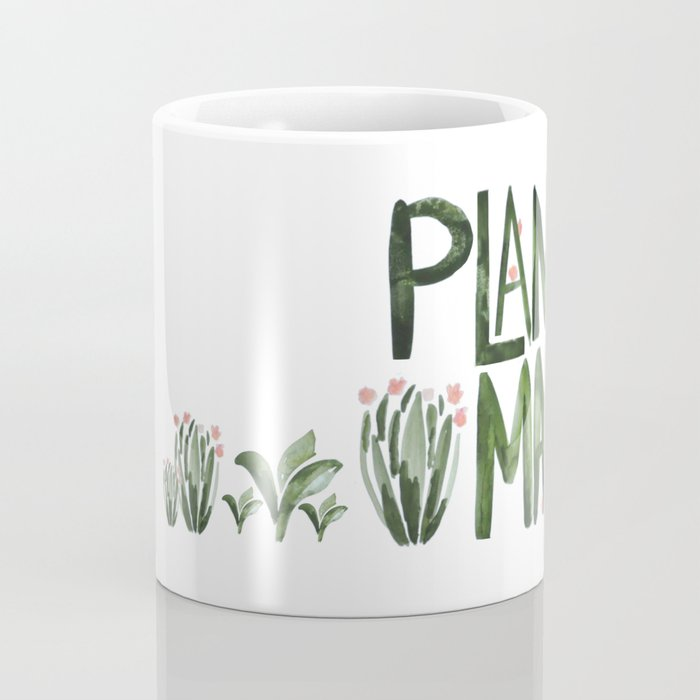 Plant Mama with Pink Flowers Coffee Mug