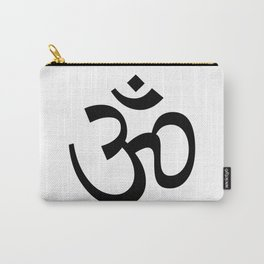 Om Black & White Carry-All Pouch