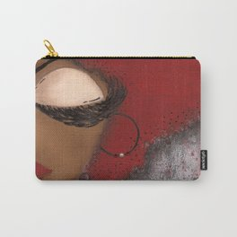 Crimson and Cream Sassy Girl Carry-All Pouch