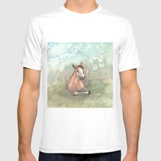 Resting Pony Mens Fitted Tee White MEDIUM