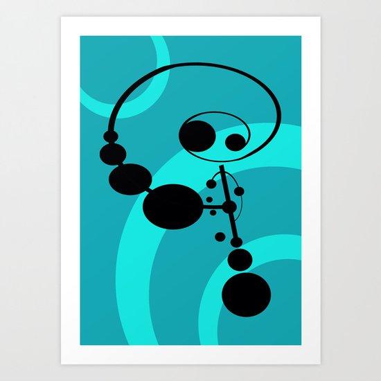 Bubble Man Art Print