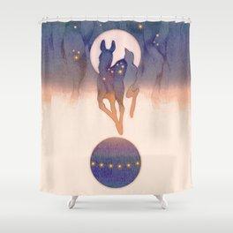 Spheres Shower Curtain