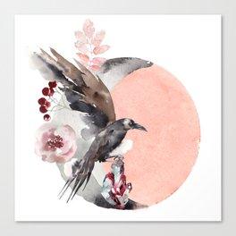 Visions Of Crystal Eyed Ravens Canvas Print