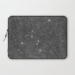 Modern elegant black faux glitter luxury pattern Laptop Sleeve