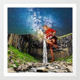 Pinup Waterfall Art Print