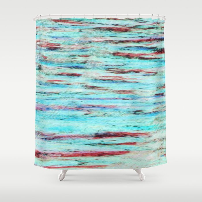 Color gradient and texture 33 Shower Curtain