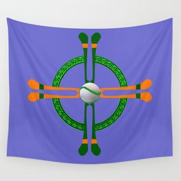 Hurley and Ball Celtic Cross Design - Solid colour background Wall Tapestry