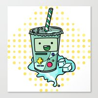 beemo Canvas Prints featuring Beemosoda by _ZNT_