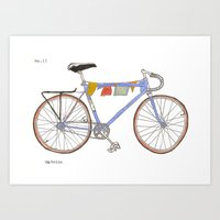 Blue Bike no 12 Art Print