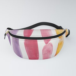 38| 190330 Watercolour Abstract Brush Strokes Fanny Pack