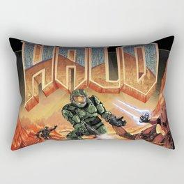 Halo-Doom Rectangular Pillow