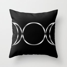 Triple Goddess Symbol Throw Pillow