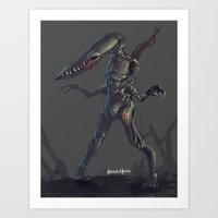 odd future Art Prints featuring Odd by Benedick Bana