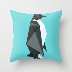Fractal geometric emperor penguin Throw Pillow