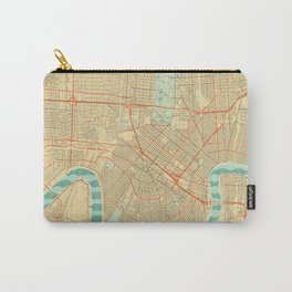 New Orleans Map Retro Carry-All Pouch