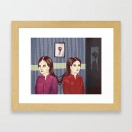 As it grew longer they grew apart Framed Art Print