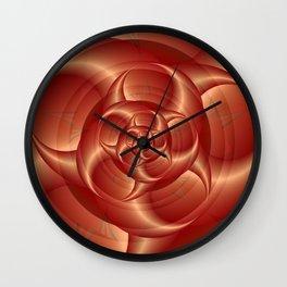 Copper Pincers Spiral Wall Clock