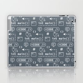 Code and things pattern - Blue Laptop & iPad Skin