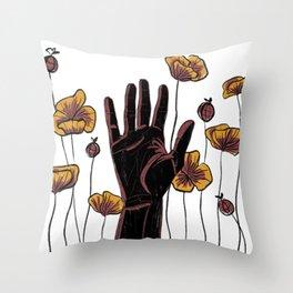 Let Go- Black Throw Pillow