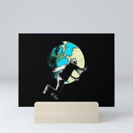 Tailing the Moon Fantasy Artwork - Scooter Boy Mini Art Print