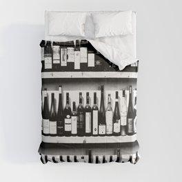 Wine Bottles in Black And White #decor #society6 #buyart Comforters