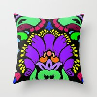 damask Throw Pillows featuring Damask by Urlaub Photography