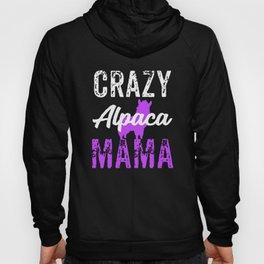 Crazy Alpaca Mama Purple, Funny Alpaca, Alpaca Gifts Hoody