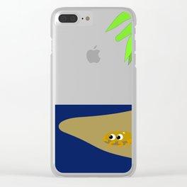 The sunny beach Clear iPhone Case