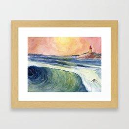 High Tide At Sunset Framed Art Print