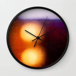 Abstract Composition In The Neon Light Wall Clock