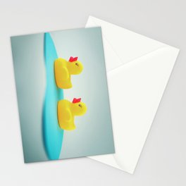 Rubber ducks Stationery Cards