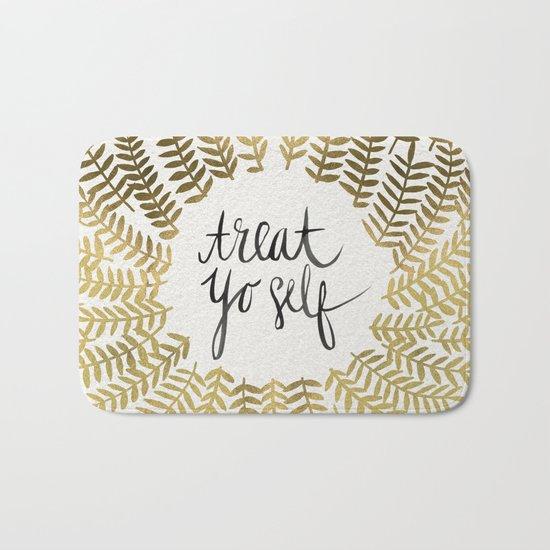 Treat Yo Self – Gold Bath Mat