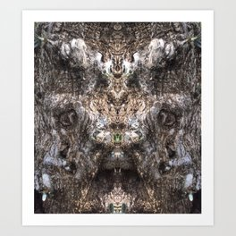 Hungry Hallow Tree Art Print