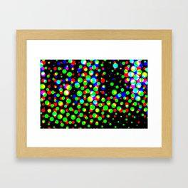 Simple multicolor halftone background Framed Art Print