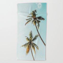 Palm Tree Beach Summer Beach Towel