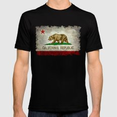 State flag of California X-LARGE Mens Fitted Tee Black