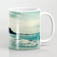 surf Mugs featuring Surf by Hilary Upton