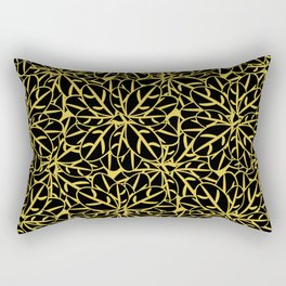 Golden flowers Rectangular Pillow