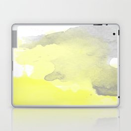 Yellow and Gray Ombre Watercolor  Laptop & iPad Skin
