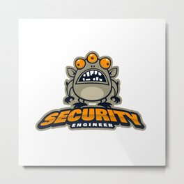 Best Security Engineer Metal Print