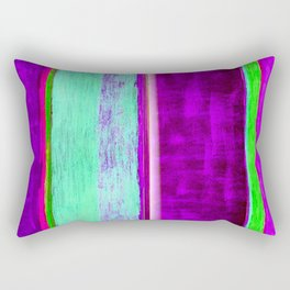 Violet stripes Rectangular Pillow